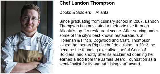 Chef Landon Thompson Pic and Bio