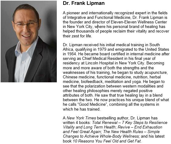 Dr Frank Lipman Pic and Bio